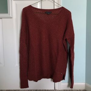 Size S Rust American Eagle V-Neck Sweater